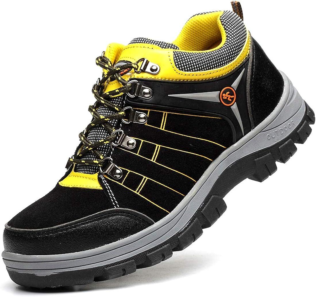 Dxyap Hiver Velours Chaussure de S/écurit/é Homme Femme Chaussures de Travail avec Embout de Protection en Acier Bottes de Randonn/ée imperm/éables