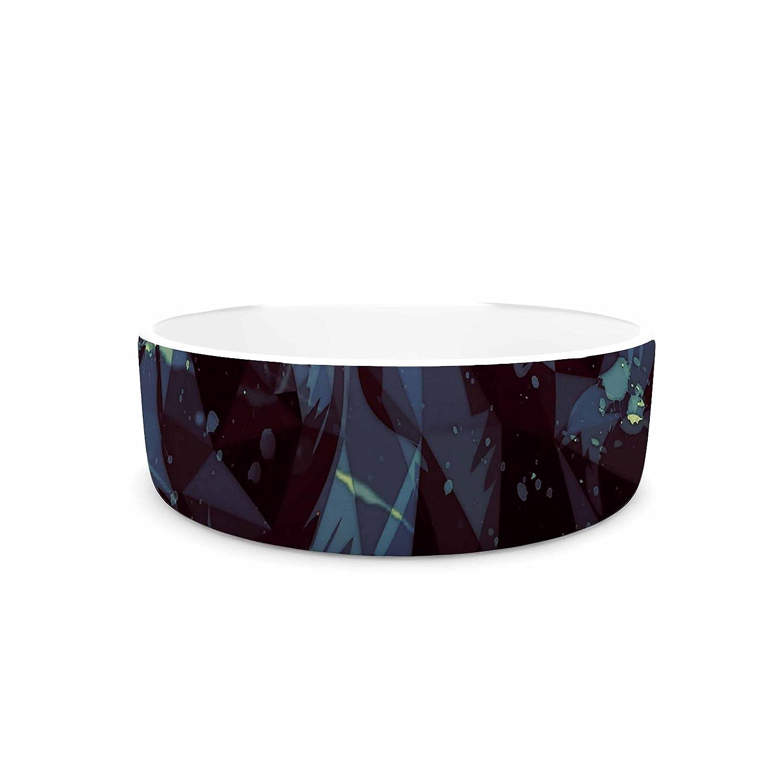 KESS InHouse Mayka Ienova Le black Parduc  Black Animals Pet Bowl, 7