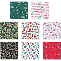 EXCEART 40pcs Christmas Cotton Fabric Bundles Sewing Square Fabric Christmas Printing Quilting Fabric Patchwork for DIY…