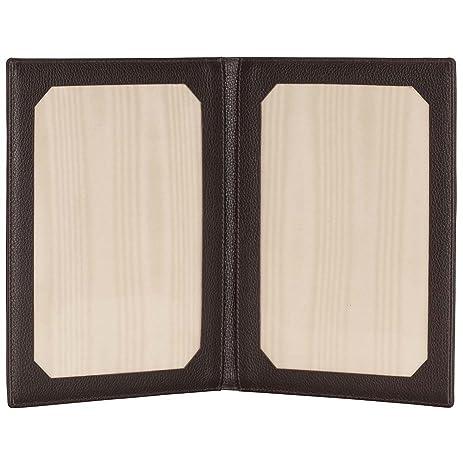 Amazon.com - David Hampton Luxury Leather Travel Photo Frame ...