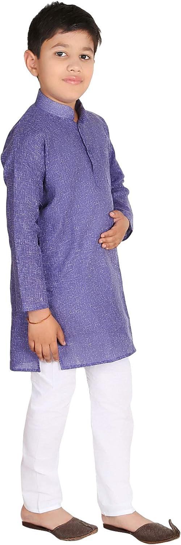 FOCIL Festival Season Special Blue Cotton Kurta Pyjama Boys