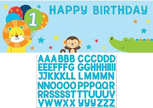 Amazon.com: Creative Converting 324604 Uno es fun-boy Feliz ...