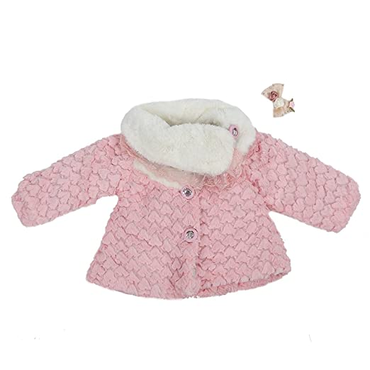 02fa455f0 Amazon.com  TOOGOO(R) Baby girls clothes winter jacket coat (pink ...