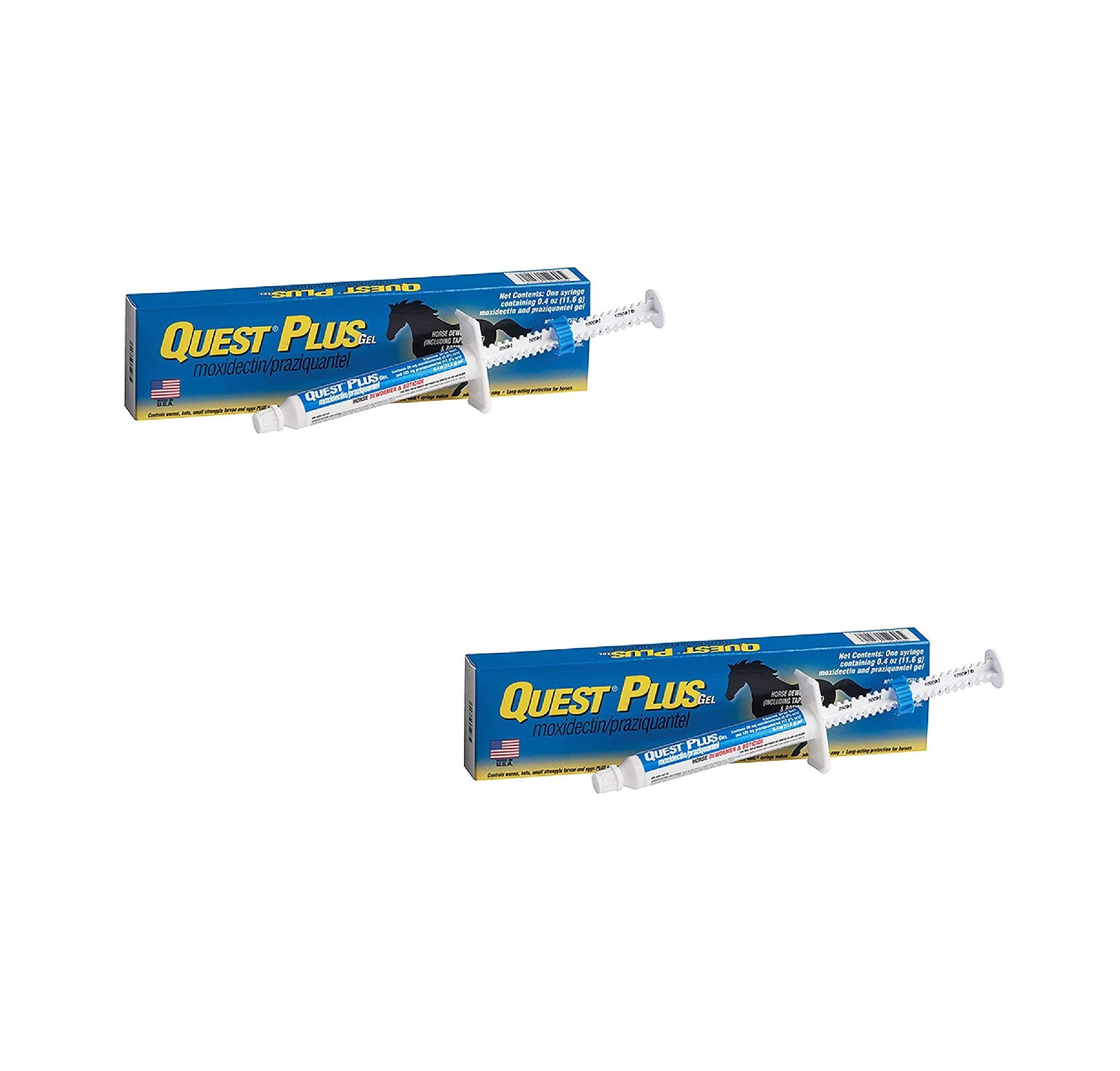 Zoetis Animal Health Quest Plus Gel Equine Dewormer (2 Pack)
