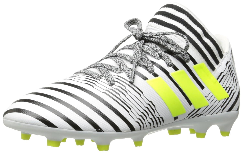 e262cebafbad adidas Boys' Nemeziz 17.3 FG J Soccer Shoe, White/Solar Yellow/Black, 3.5  Medium US Little Kid: Amazon.com.au: Fashion