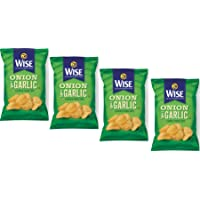 Wise Foods Onion & Garlic Flavored Potato Chips, 8.75 oz. Bags (4 Bags)