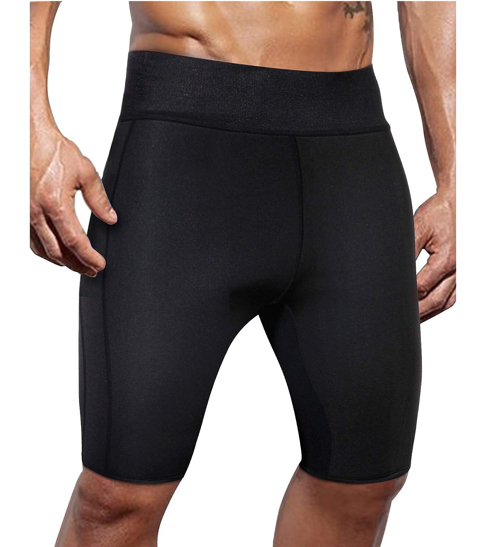 c1c4f505c3c82 Top4  Ursexyly Men Weight Loss Sauna Sweat Workout Short Hot Neoprene  Athletic Gym Pant Legging Fat Burner Slimming