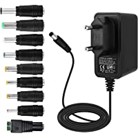 EFISH 12V 1A 12W Adaptateur d'alimentation du transformateur,pour Les appareils ménagers,CCTV Camera,Routers,Hubs,LED Strips,Telekom,T-COM,Speedport,Radiowecker,Scanner,Switch+9 Différents Bouchons