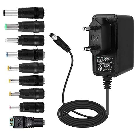 EFISH Adaptador de alimentación 12V 1A   Adaptador de Enchufe de CA DC de 1Amp para