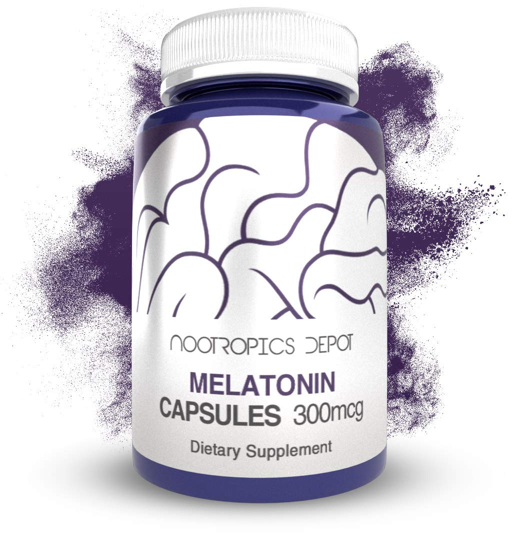 Melatonin Capsules | 300mcg | 120 Pills | Supports Healthy Sleep Cycles |  Promotes Relaxation |