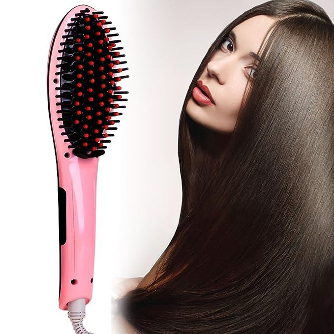 ACEVIVI Cepillo alisador eléctrico de pelo anti estático y con pantalla LCD: Amazon.es: Salud y cuidado personal