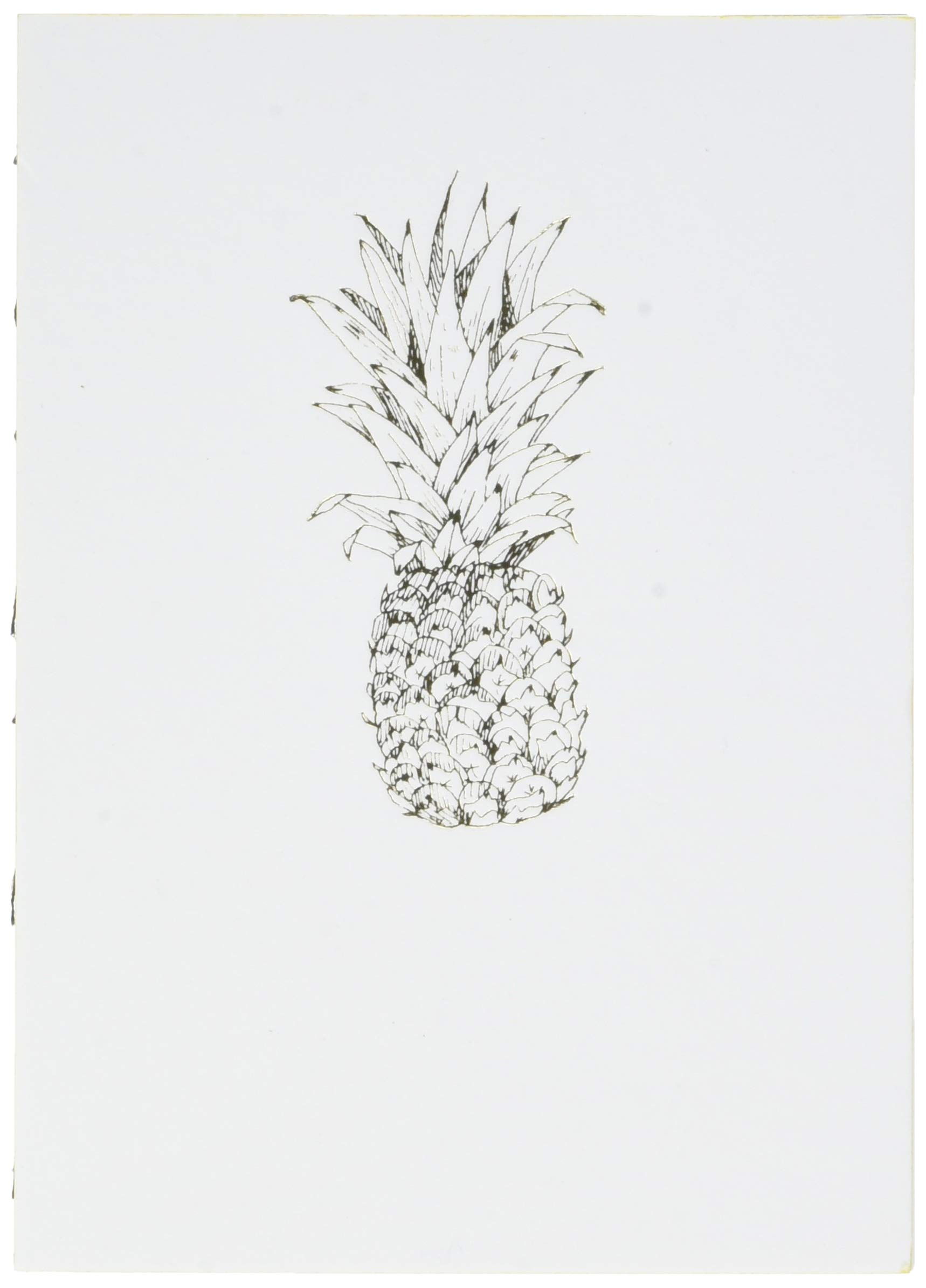 Editions Oberthur 588279Papette Notebook A6Gold Fever Pineapple