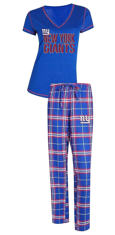 Concepts Sport ニューヨークジャイアンツ NFL Super Duo レディース Tシャツ&フランネル パジャマ スリープセット Medium  B07GGHTSQ8