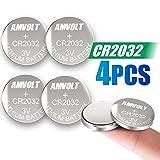 4 Pack AmVolt CR2032 Battery 220mAh 3 Volt Lithium Battery Coin Button Cell 2023 Expiry Date