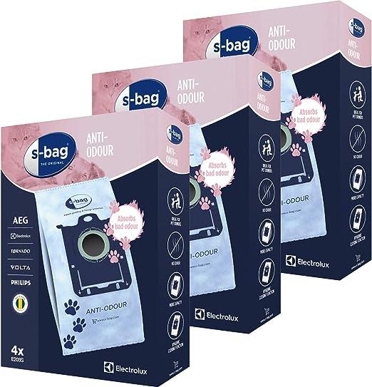 s-bag E203S E2031 - Bolsas antiolor para aspiradora Electrolux (12 ...