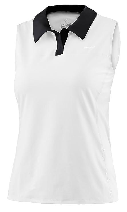 HEAD Performance Damen Poloshirt ärmellos, weiß  Amazon.de  Bekleidung 0915084447