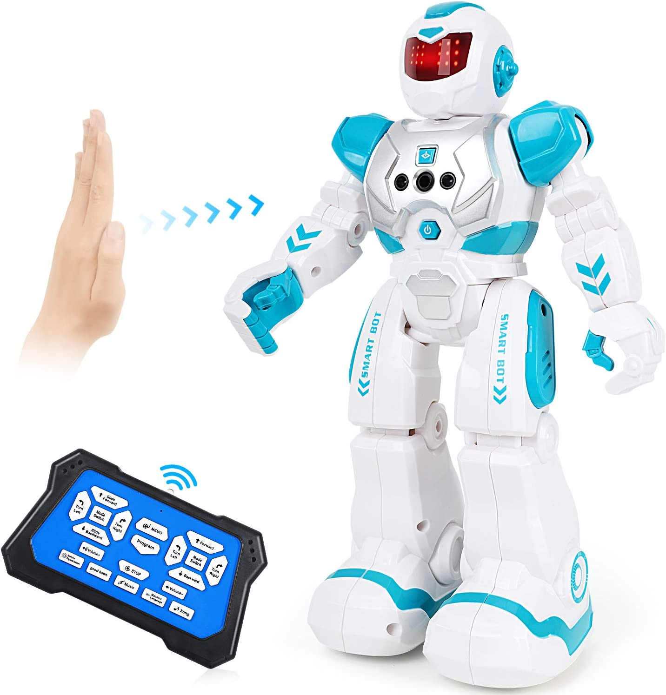 Auney Robot de Control Remoto para niños, Inteligente RC Robot Juguete Gestos Control Robots (Verde)