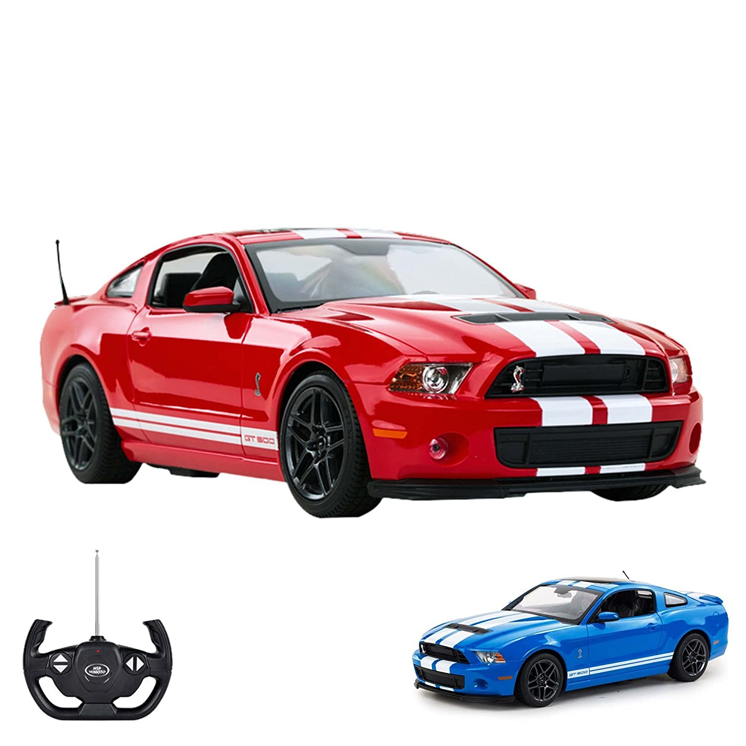 Ford mustang shelby gt500 rc licensed car model scale 114 ready to drive includesremote control amazon co uk toys games