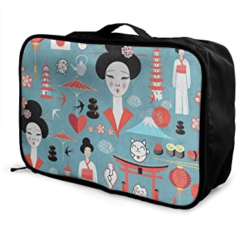 Portable Luggage Duffel Bag Piano Cute Girl Travel Bags Carry-on In Trolley Handle