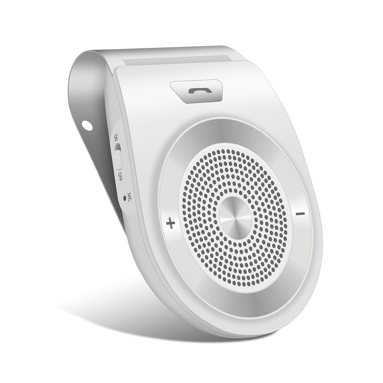 YUNJIN Kit Vivavoce Bluetooth 4.1 per Auto con ACCENSIONE AUTOMATICA, Funziona con GPS, Musica, Wireless Vivavoce per iPhone X/8/7/6/6s plus, Samsung di