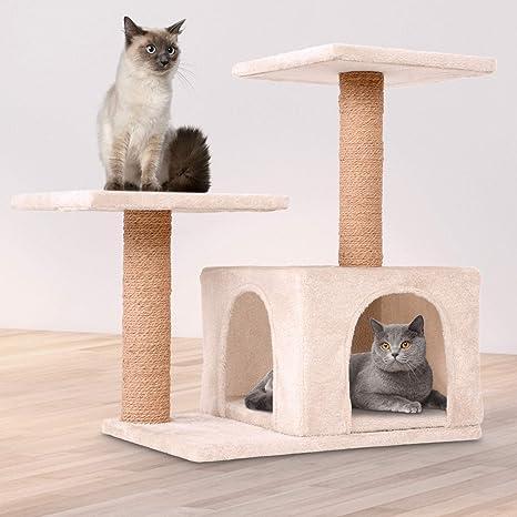 Leopet – Rascador para Gatos Árboles Gato Rascador Árbol para Gatos Escalada algodón 62 cm