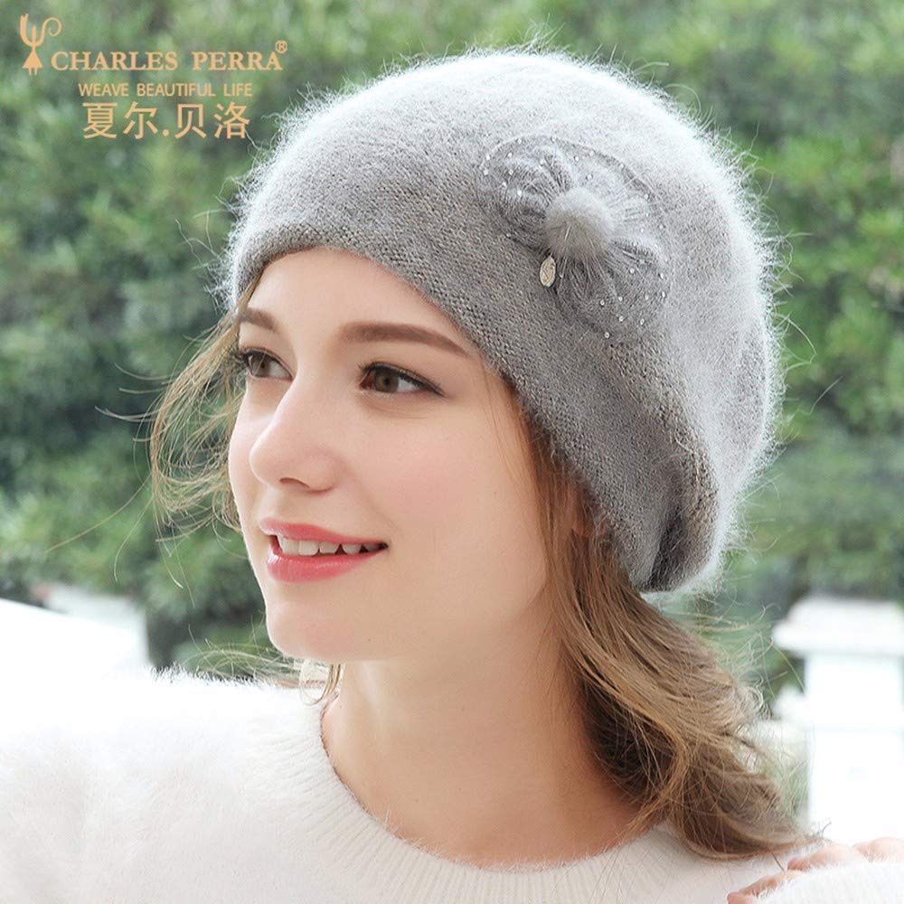 Taoliangad Hat Female Autumn and Winter Korean Version of The Wild Wool hat Fashion Warm Beret