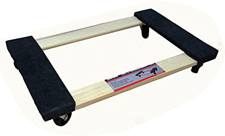 TruePower Hardwood Carpet End Furniture Dolly / Moveru0027s Dolly   3u0026quot;  Casters   1000 Lb