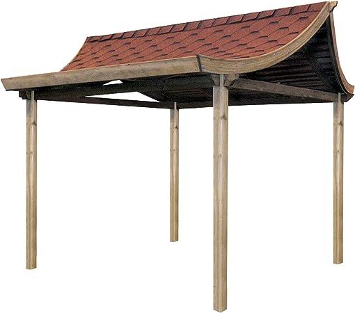 Casa de té - estilo Oriental, pergola tejado.: Amazon.es: Jardín
