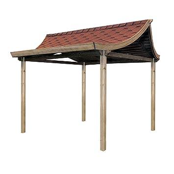 Casa de té - estilo Oriental, pergola tejado.