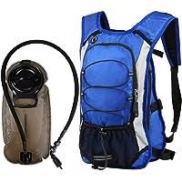 Vbiger Unisex 2 Piezas Mochilas de hidratación 2 en 1 Bolsa de vejiga de Agua 2 Unidades de Paquete de hidratación Mochila de Ciclismo de Gran Capacidad con cámara de 2,5 litros, Ideal para Ciclismo