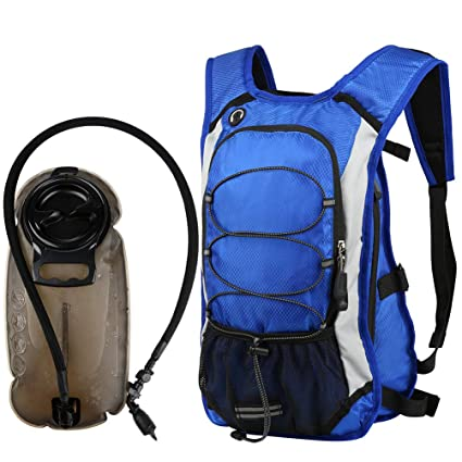Vbiger Mochila hidratacion de 2,5L Mochila Trail Runningcon una Bolsa de Agua para el maratón Que Corre ocultando Que acampa en Bicicleta.