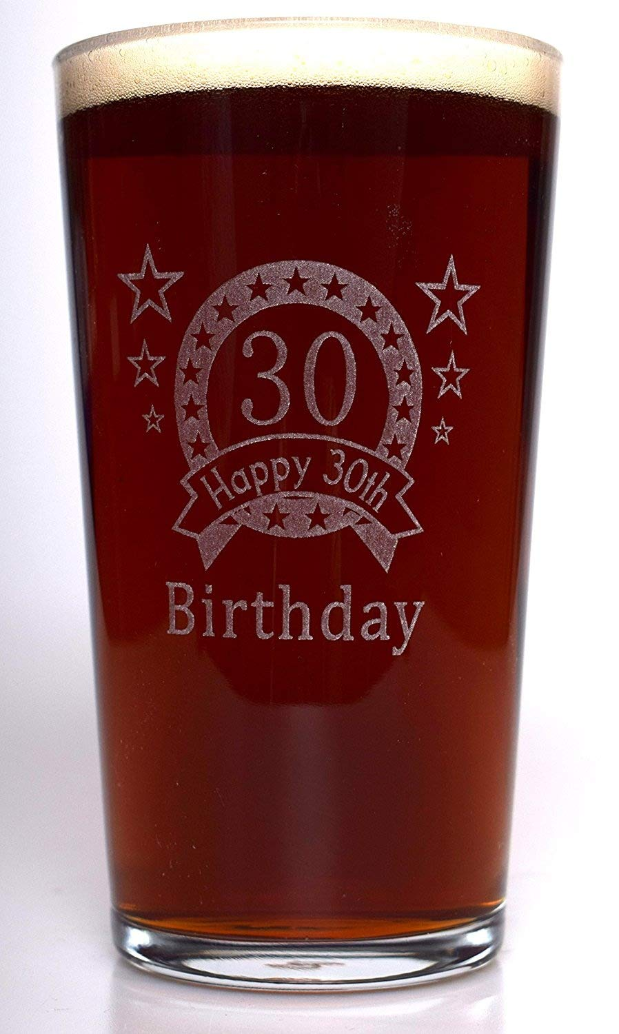 (FBA) 30TH Birthday Star Pint Glass Gift Cr8 A Gift
