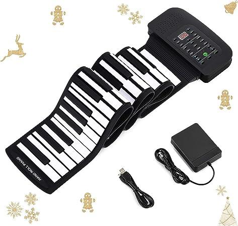 Donner Piano - Teclado enrollable con 88 teclas portátil con altavoz integrado