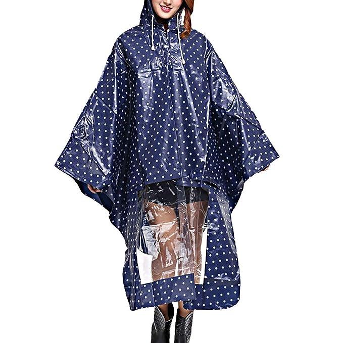 Poncho De Lluvia De Las Mujeres Modernas Con Capucha Impermeable ...