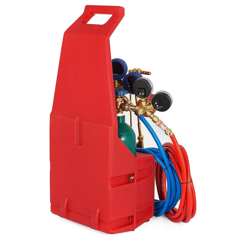 4L Hartl/öt-Outfit-Brenner-Kit 4L mit nachf/üllbaren Propan-Sauerstoffflaschen mit Kunststofftrage Schneid- Mophorn Schutzgas-Schwei/ßger/ät Professionelle tragbare Schwei/ß-