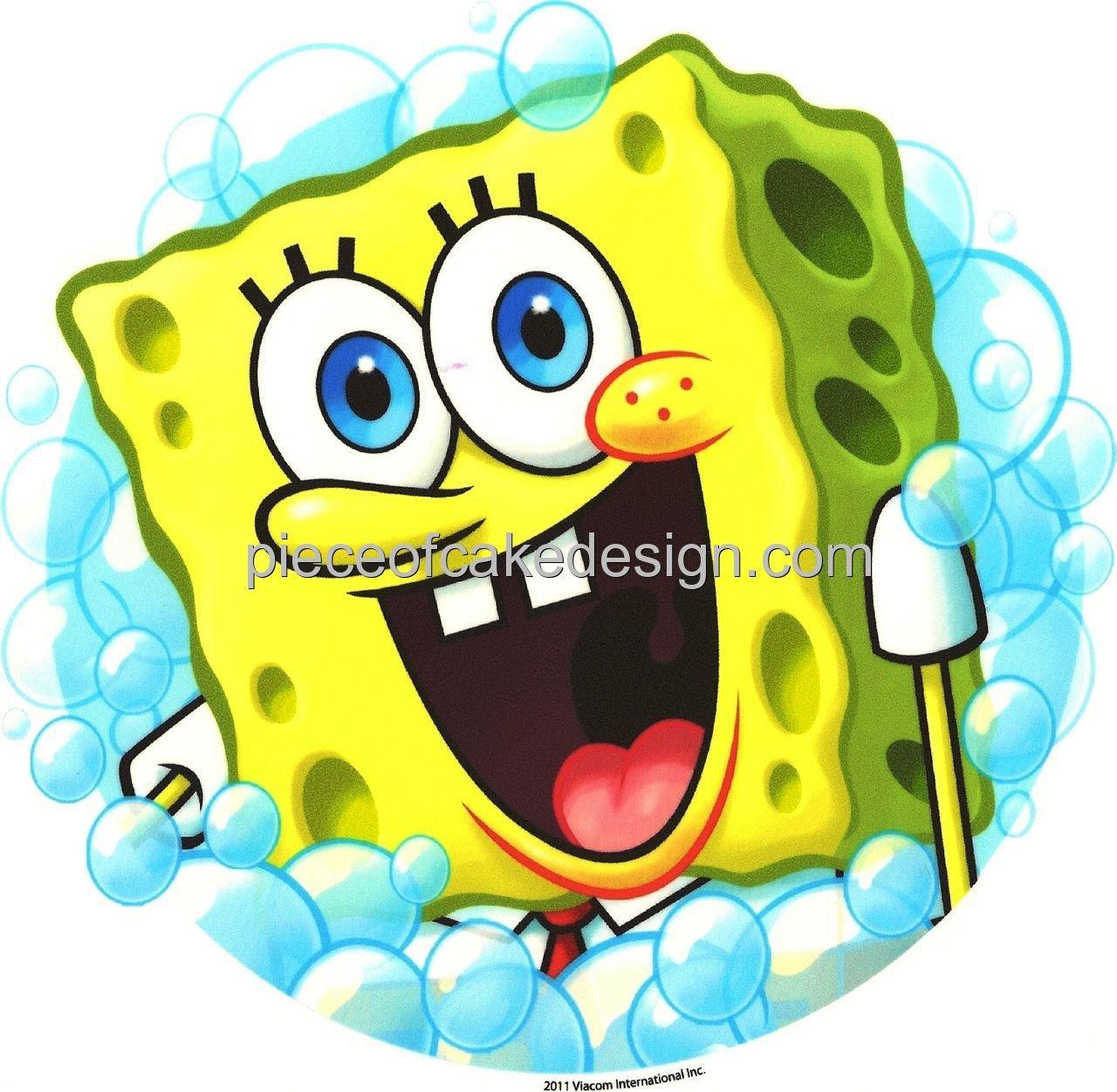 Bob Esponja Burbujas Cumpleaños ~ Comestible imagen Pastel ...