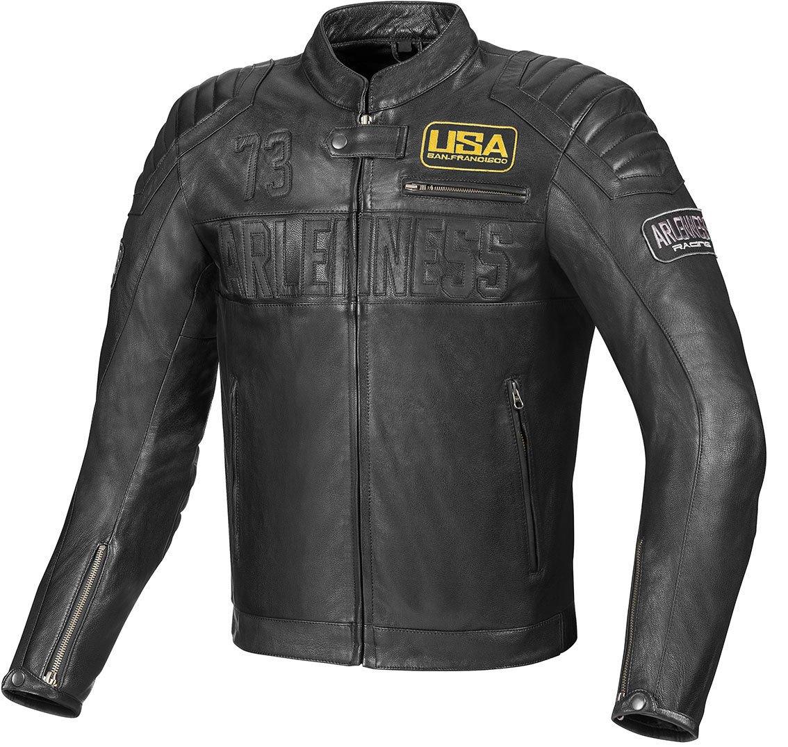 Giacca da motociclista in pelle Arlen Ness Aggro