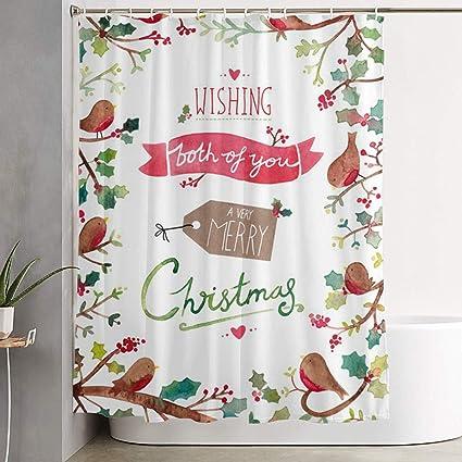 Amazon Kupik Merry Christmas Shower Curtain Waterproof