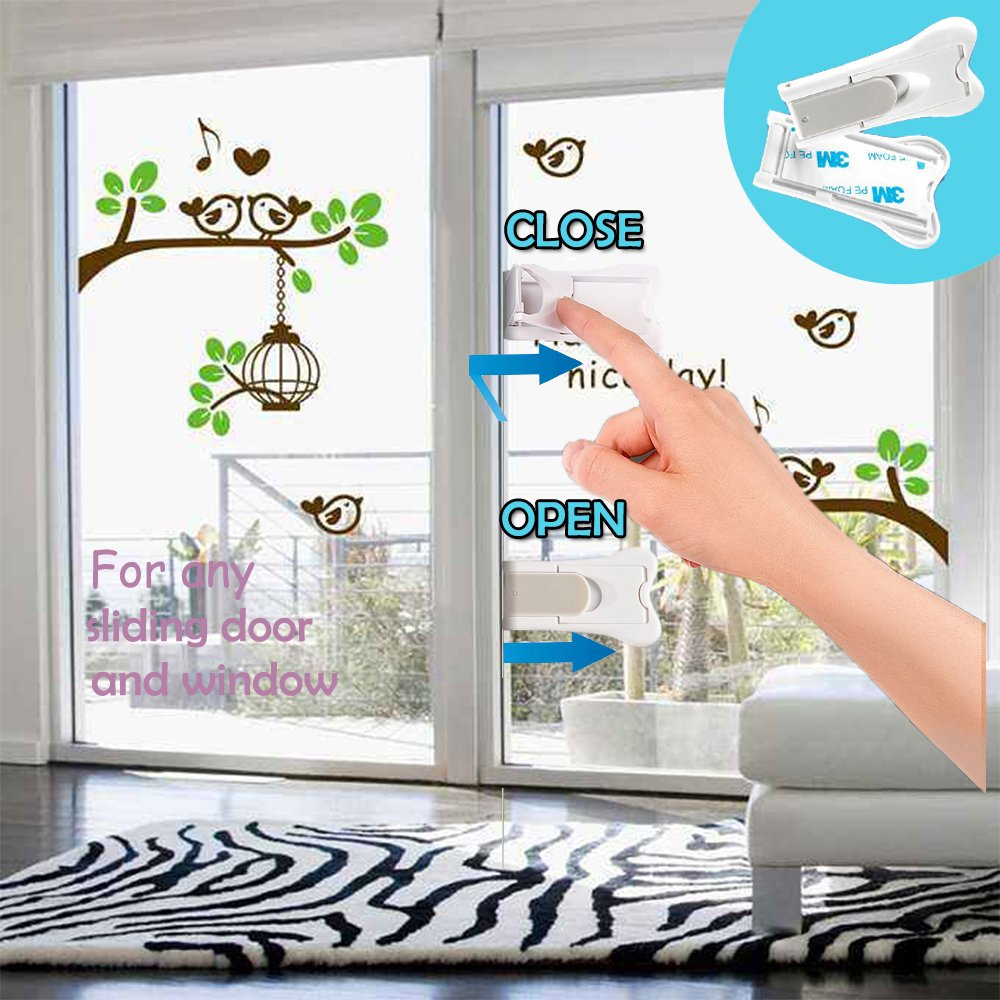 Sliding Door Lock For Child Safety Kongnai Baby Proof Lock For