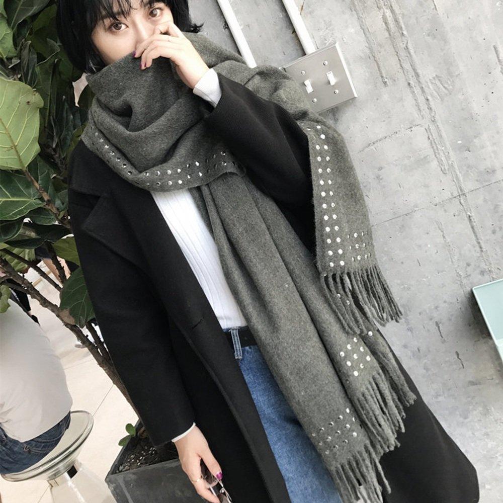 Bufanda HAIZHEN Elegante de moda otoño e invierno borlas de punto de mujer gruesa cálida estudiantes...
