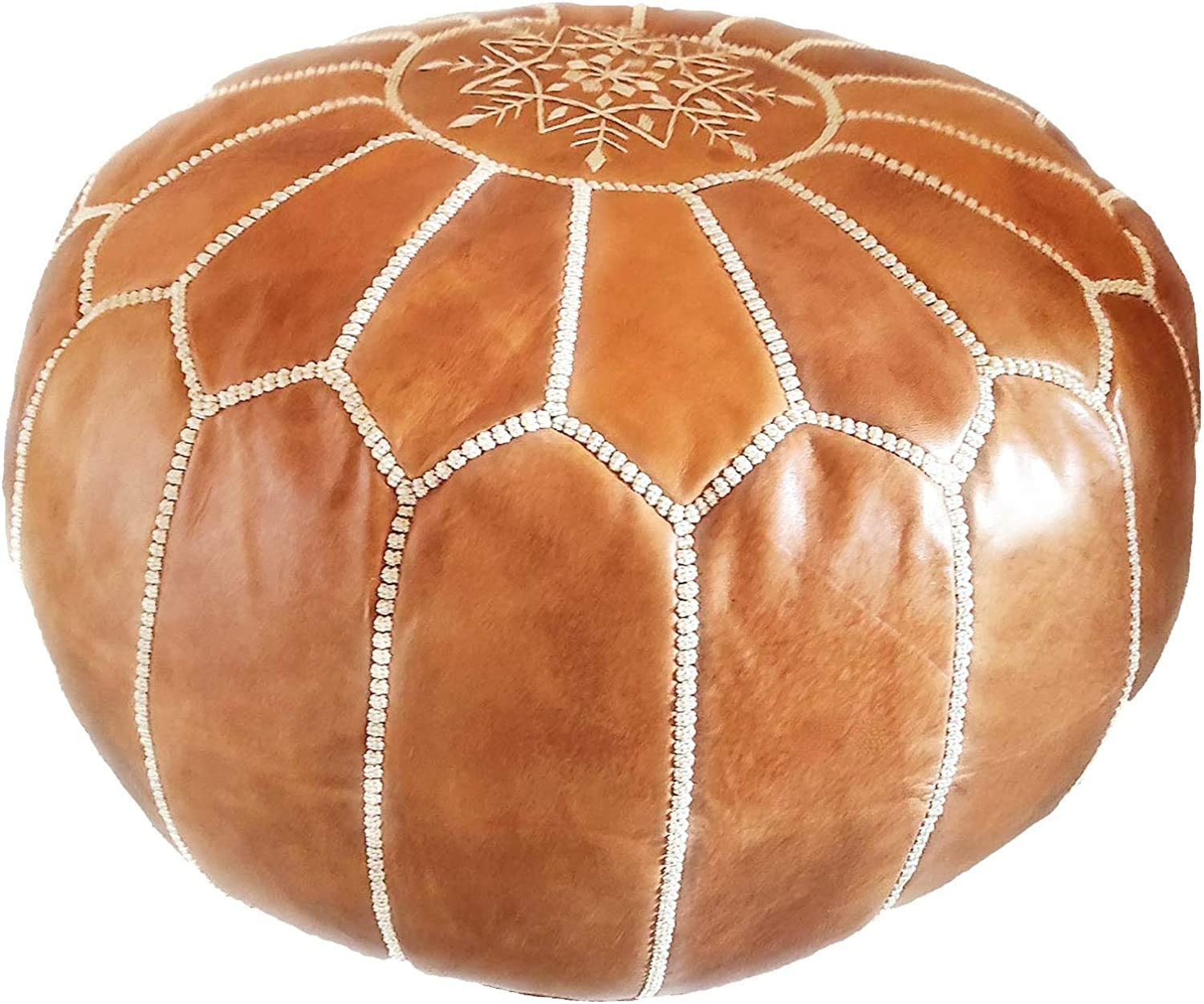 Pouf Ottoman Footstool Hassock 100/% real Natural  Moroccan POUF leather  original leather Pouf ottoman pouf morrocan leather pouf white