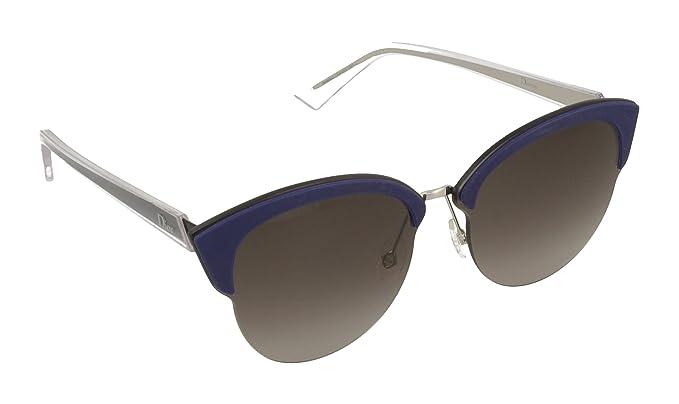 Christian Dior Damen Sonnenbrille Diorun HA Bmg, Blau (Palladium Blue Black/Brown Sf), 65