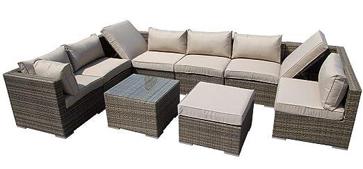 Nwn Conjunto de Muebles de jardín de ratán, sofá ...