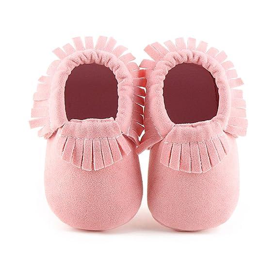 Hongfei Unisex Antiskid Toddler Infant Baby Girl Boy Shoes con suela Tassels Soft FdV5RF5amT