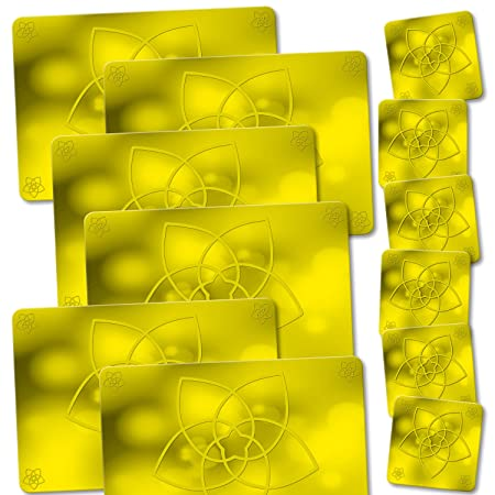 ADDIES Espacio Juego y rectangular de cristal Posavasos