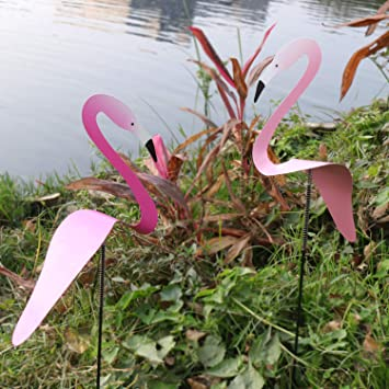 FRSH MNT 20cm Swirl Bird Flamingo Whimsical /& Dynamic Pink Wind Chime Spinner Handmade Spins with The Slight Garden Breeze for Outside Lake Patio Lawn Yard Decor Best Gift for Lover Valentines Day