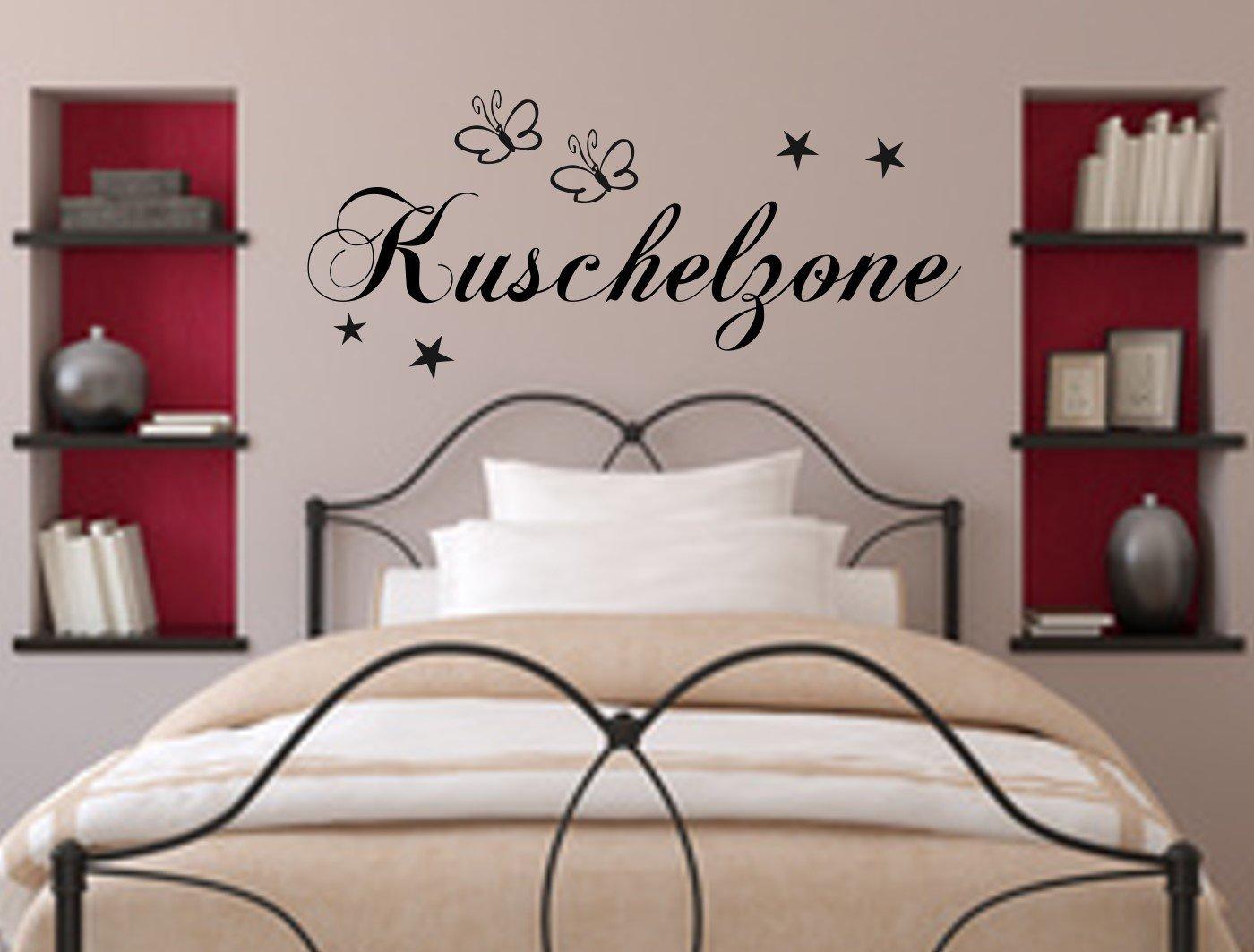 Wandschnörkel® WANDTATTOO Kuschelzone Dekoration Schlafzimmer ...