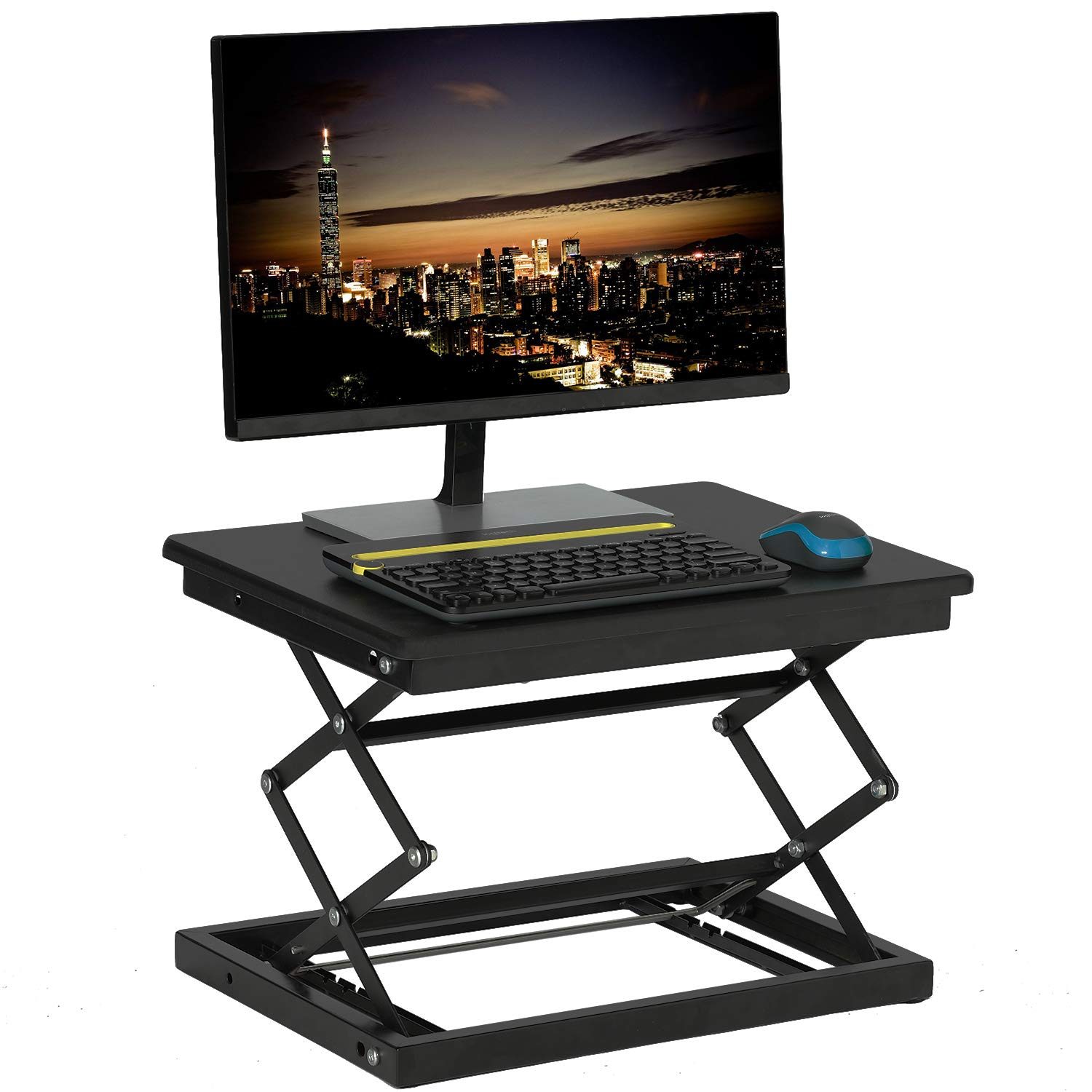 KICODE Laptop Standing Desk, Standing Office Table, Stand up Laptop Stand, Sit to Stand Desk Riser by Kicode