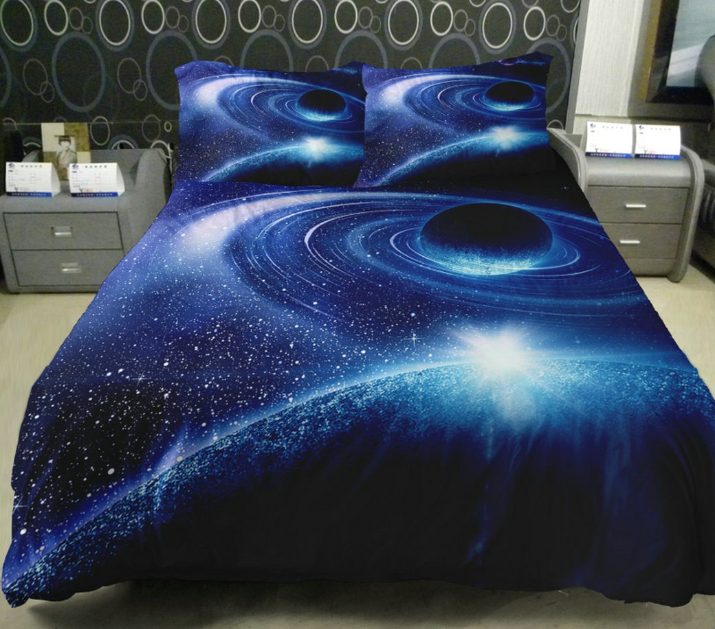 stars blue lunar dark kitchen amazon set bed com galaxy dp duvet comforter pattern eclipse celestial king universe bedding cover space sleepwish home