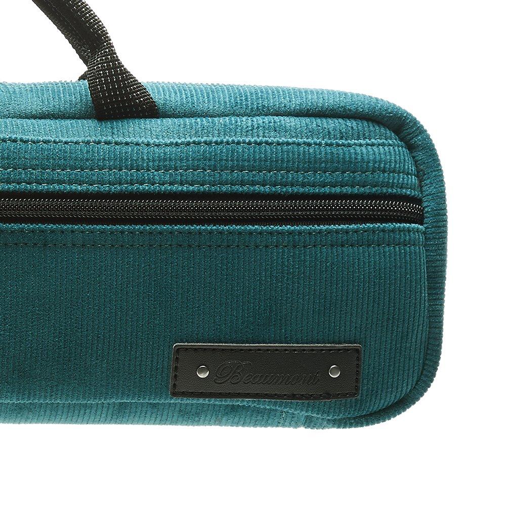 Flute Case Cover - Beaumont C-Foot Flute Bag - Teal - Corduroy by Beaumont (Image #3)